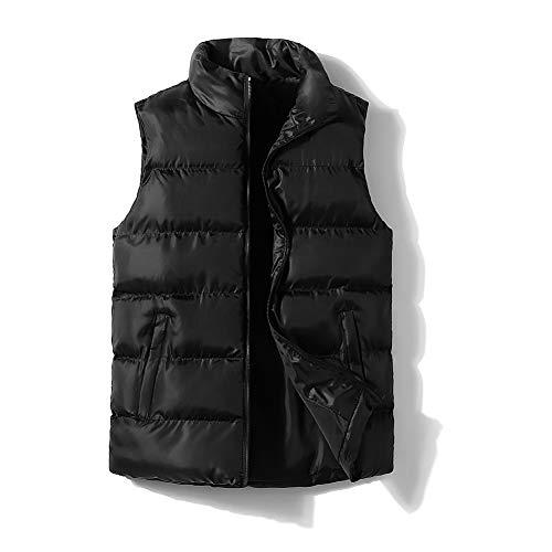 Punk Style - Chaleco de algodón para Hombre, Talla Grande, Estilo Informal, para Hombre, Negro, XXXXXL