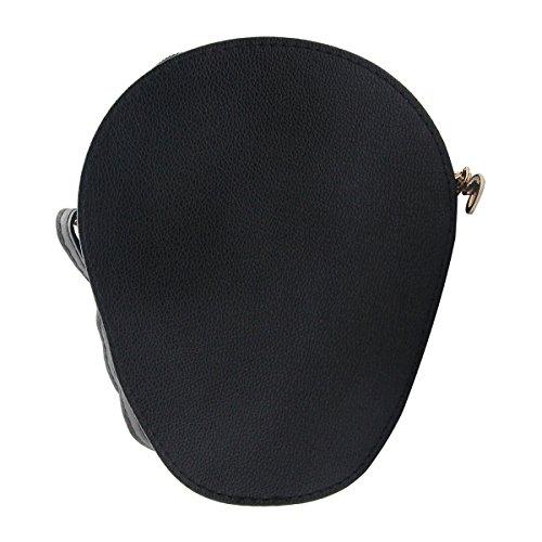 Yodensity - Bolso al hombro para hombre negro negro negro