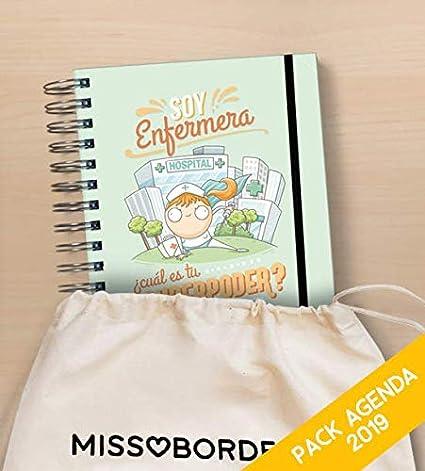 Missborderlike - Agenda Anual 2019 Dia vista + saco - Enfermera