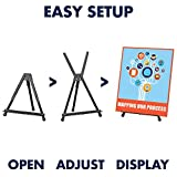 "Quartet Easel, Tabletop Instant, 14"" High, Supports up to 5 lbs., Portable & Collapsible, Black (28E)"