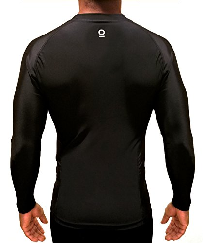 Optimal Human Baselayer Compression Shirt Best for BJJ No-Gi Rash Guard | Quick Dry Fit | Alpha I (Small, - Bag Hockey Power Dry Equipment