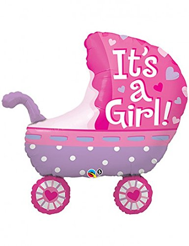 Qualatex Foil Balloon 043289 It's A Girl Baby Stroller 35