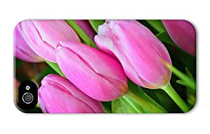 Hipster iPhone 4 covers wholesale pink tulip buds flower PC 3D for Apple iPhone 4/4S