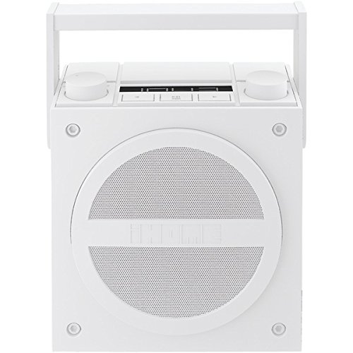 IHMIBT4WC - IHOME iBT4WC Rechargeable Bluetooth Boom Box with NFC amp; FM Radio (White)
