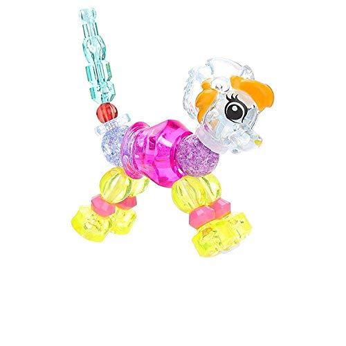 魔法のブレスレット ペットにひねってしまう DIY キュートな動物スタイル フリーフォーム おもちゃブレスレット ポップビーズジュエリーキット 子供用 18cm lz
