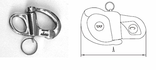 (Stainless Steel Fixed Bail Snap Shackle)