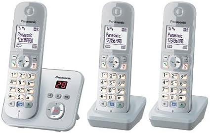 Panasonic KX-TG6823GS - Teléfono DECT inalámbrico (pantalla de 1,8
