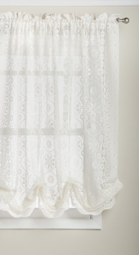 (LORRAINE HOME FASHIONS Hopewell Lace Window Shade, 58-Inch by 63-Inch,)