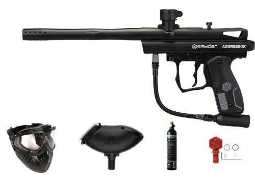 Spyder Aggressor Paintball Marker Value Pack (Diamond/Black)