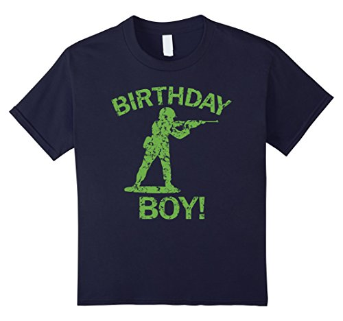 Kids Birthday Boy Green Plastic Military Toy Soldier T-Shirt 6 (Toy Soldier Clothing)
