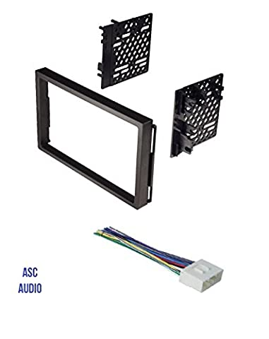 ASC Double Din Car Stereo Install Dash Kit and Wire Harness for 04-06 Chevrolet Aveo; Daewoo: 99-02 Lanos, 99-02 Leganza, 99-02 Nubira; Suzuki: 04-08 Forenza, 05-08 Reno, 04-07 (Car Audio Aveo)