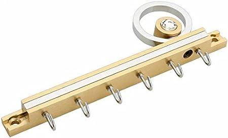 Vr Antique Gl Stainless Steel Flute Hanger/Key Holder  18 cm, 6 Hooks, Gold  Wall Hooks   Key Holders