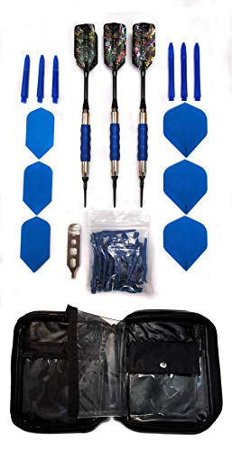 - Viper Sure Grip Soft Tip Darts with Accessory Kit (Blue, 16 Grams)