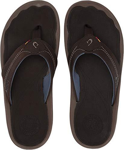 (OLUKAI Men's Kipi Sandals, Espresso/Espresso, 12 M US)