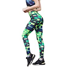 Wllsagl Xouwvpm Women's Yoga Pants High Waist Fitness Exercise Body-Building Exercise Bottom Printed Yoga Leggings