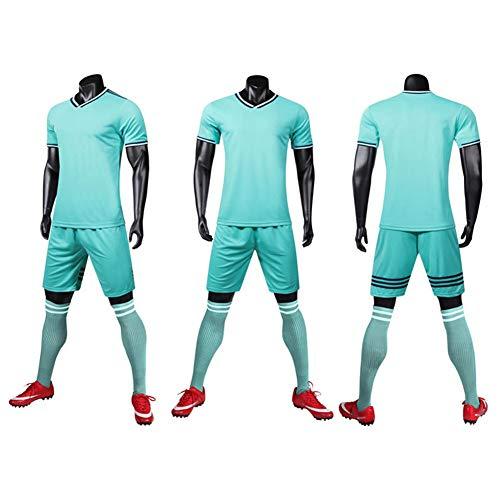 Football Uniform Set -Club Jerseys Custom Football Uniforms Competition Training Camp Uniforms Children's Soccer Uniforms Child/Adult Size is Complete(S-XXL)-7-S]()