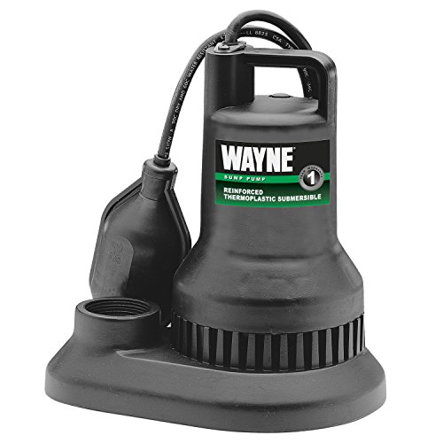 WAYNE WST30 3/10 HP Reinforced Thermoplastic Submersible Sump Pump With Tether Float Switch by Wayne