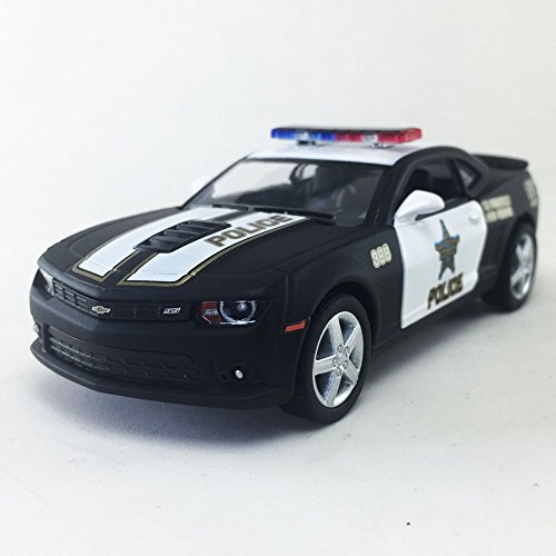 2014 Chevrolet Chevy Camaro Police, Black Kinsmart 1:38 DieCast Model Toy Car Collectible