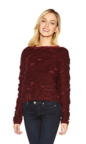 raoul-womens-camouflage-plush-sweater-garnet-medium