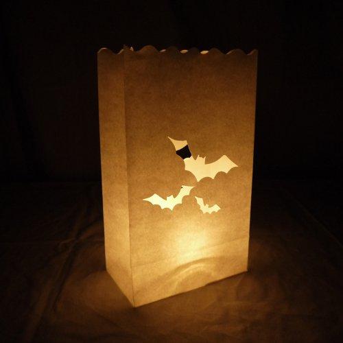 (Quasimoon PaperLanternStore.com Bats Paper Luminaries/Luminary Lantern Bags Path Lighting (10)