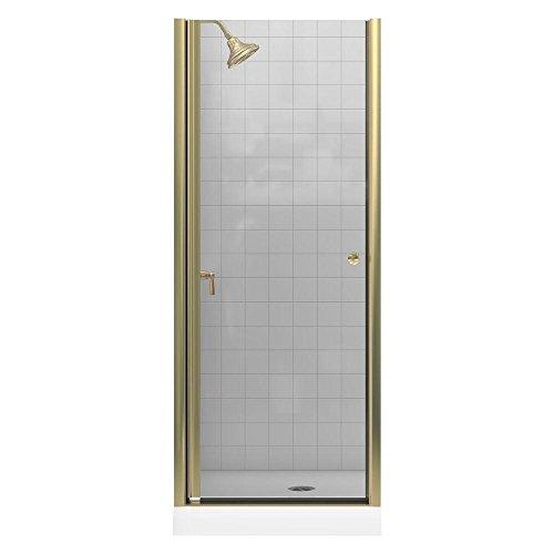 (KOHLER K-702400-L-ABV Fluence Frameless Pivot Shower Door, Anodized Brushed Bronze)