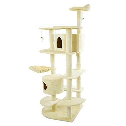 Cat Tree 80'' Condo Furniture Scratching Post Pet Cat Kitten House