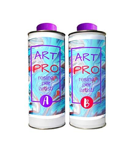 Clear Epoxy Resin Kit Art Pro Non-Toxic 1600 gr + neon