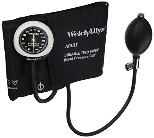 (Welch Allyn DS45-11CB Gauge with Durable Two Piece, Adult Cuff and Bladder)