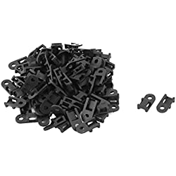 uxcell Wire Buddle Saddle Type Screw Fixed Cable Tie Mount Holder Base 100 PCS Black