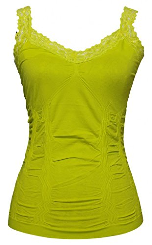 Womens Lace Trim Camisoles - Spring Bud ()