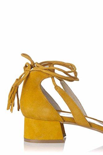 Rieker V1659 - sandalias abiertas de cuero mujer, color blanco, talla 42