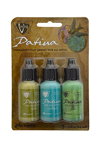 Vintaj Ranger Patina Inks Weathered Copper Moss Verdigris & Jade Jewelry Making Kit