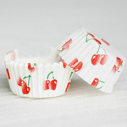 Chocolate Mold Cherry Pattern Paper Baking Cups Cake DIY Mini shopping