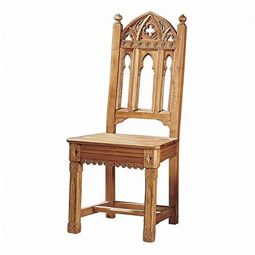 Design Toscano Sudbury Gothic Side Chair in Distressed Golden