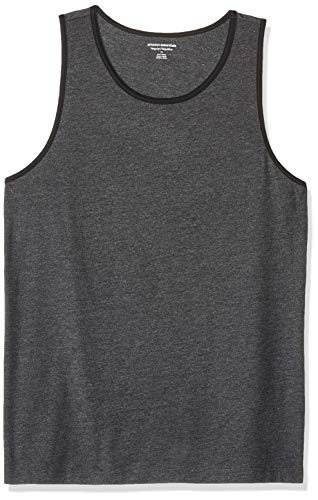 Charcoal Ringer - Amazon Essentials Men's Regular-Fit Ringer Tank Top, Charcoal Heather/Black, X-Large