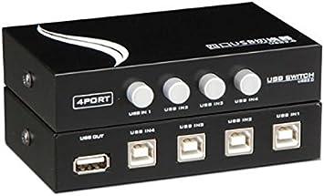Findway 4 Ports USB Printer Share Sharing Switch Hub MT-1A4B-CF
