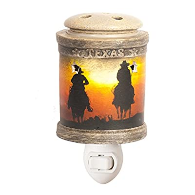 Texas Cowboy Accent Novelty Wax Candle Warmer - One of the Greatest Texan Style Home Fragrance Products - Flameless Heat Source Better than Candles *CLEARANCE ITEM