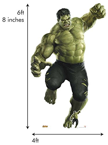 Star Cutouts 122 Official Marvel Character Lifesize Cardboard Cutout Hulk Smash Giant (Avengers: Infinity War), Multicolour]()