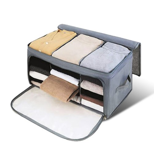 Amazon.com: Venkaite Storage Bag, 62L Adjustable Folding Bamboo Charcoal Storage Case: Home & Kitchen