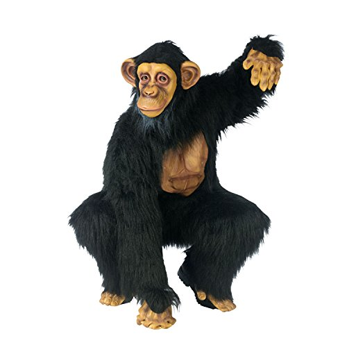 FunWorld Complete Chimpanzee Suit, Black, One Size Costume]()