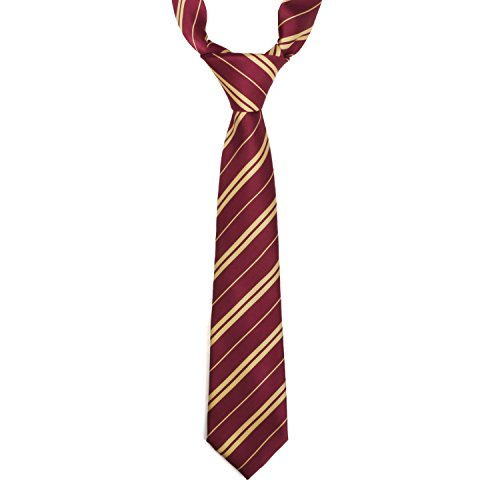 Landisun Cosplay Tie Halloween Costume Satin Maroon for 7 Years and up -