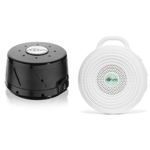 Marpac All-Natural White Noise Sound Machine Home and Away Bundle , Black (Marpac Dohm Ds All Natural Sound Machine White)