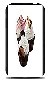 Ice Cream With Toppings Yum Black Silicone Case for Samsung Galaxy S4