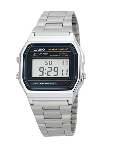Casio Men's  A158WA-1 Digital Watch