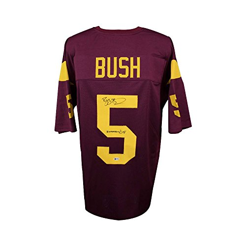 Reggie Bush Autographed USC Custom Football Jersey Heisman Inscription BAS COA