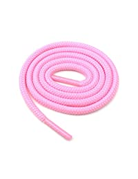 "Round Shoelaces 3/16"" Thick Solid Colors for All Shoe Types Several Lengths (Pink-27)"