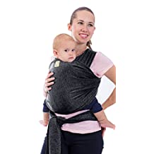 Baby Carrier - Baby Slings Wrap by KeaBabies - All-in-1 Stretchy Baby Wraps - Baby Sling - Infant Carrier - Babys Wrap - Hands Free Babies Carrier Wraps | Great Baby Shower Gift Mystic Grey