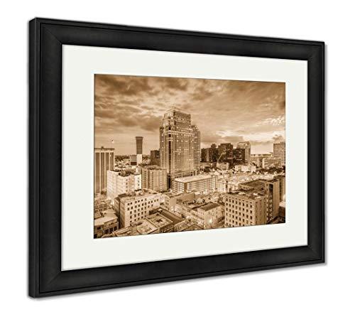 - Ashley Framed Prints New Orleans, Louisiana, USA, Wall Art Home Decoration, Sepia, 30x35 (Frame Size), Black Frame, AG32187965