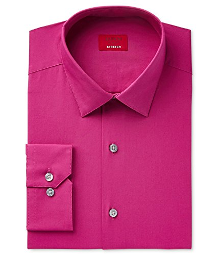 Alfani Spectrum Men's Pink Slim Fit Poplin Long Sleeve Dress Shirt L BHFO - Shirt Mens Dress Alfani
