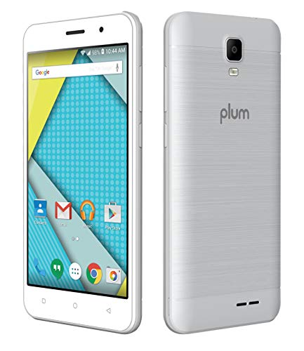 """Plum Z518SLV Compass 2 4G GSM Unlocked Phone, Android 8.0 ATT T Mobile 8GB and 8MP Camera Quad Core, 5"""", Silver"""
